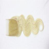 ingrosso pezzo di chiusura dell'onda del corpo peruviano-# 613 Parte libera della chiusura dei capelli umani brasiliani dell'onda del corpo Parti indiane peruviane indiane malesi del 100% dei capelli umani 8-18 pollici