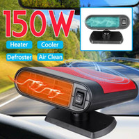 Wholesale 12v auto electric car resale online - 150W in1 V Portable Auto Car Heaters Heating Defroster Electric Fan Heaters Windshield Air Cooler Fan Defroster Demister