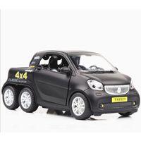 ingrosso 4x4 giocattoli-Simulazione 01:32 Pickup pressofuso in lega Toy Car Smart Fortwo 4x4 Model Car Pull-Back giocattolo bambini