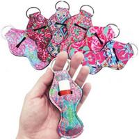 erwachsene partei liefert großhandel-Neopren-handlicher Lippenbalsam-Halter Chapstick-Halter-Verfolger mit Schlüsselketten-Geschenk für Kinder und Erwachsenen