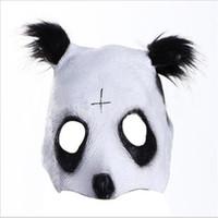 panda fantasia venda por atacado-O envio gratuito de Festa de Halloween Cosplay panda rosto máscara de cabeça Cro Panda Mask Recém Estilo Partido Fancy Dress Novidade Látex legal máscara