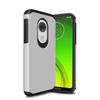 Wholesale silicone cases for cell phones online – custom Armor Case For Samsung Note plus MOTO E6 G7 play TPU PC Dual Layer Cell Phone Case Cover OPP bags