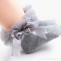 Wholesale girls ruffled lace socks for sale - Group buy 2019 Infant Toddler Baby socks Girls Kids Princess Bowknot Lace Floral Short Socks Cotton Ruffle Frilly Trim Ankle