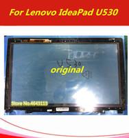piezas de repuesto de lenovo al por mayor-15.6 pulgadas a estrenar para Lenovo IdeaPad U530 20289 pantalla táctil digitalizador lente de cristal con bisel / marco piezas de repuesto