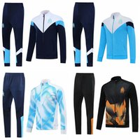 Wholesale red sports jersey for sale - Group buy Top Olympique Marseille soccer Jacket Tracksuit Marseille chandal Soccer Jersey training suits sports wear