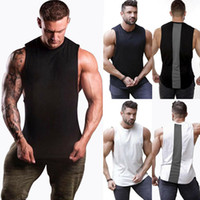 Wholesale stylish vests men for sale - Group buy Stylish Hot Sale Men s Sleeveless Stitching Crew neck Sleeveless Slim Tank Tops Bodybuilding Sport Fitness Gym Sports Vest M XXL