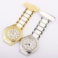 Wholesale nurse tags resale online - fashion unisex mens women nurse alloy diamond metal pocket watches classic ladies doctor hospital quartz watches