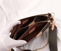 bolsas de negócios de couro suave e leve venda por atacado-2019 FAVORITO Borsa a tre pezzi Borsa classica por gioielli Borse um Tracolla em pelle ORIGNAL Alta Borse um Tracolla Mensageiro Borse M44823