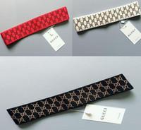 baseball stirnbänder großhandel-2 teile / los Großhandel Neueste Modedesigner Brief Stirnband für Männer Frauen Marke Sport Haarband Stoff Stirnband für Baseball Mit Tag