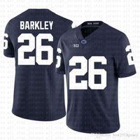 camisa de futebol americano azul venda por atacado-azul Penn State Nittany Lion 26 Saquon Barkley futebol americano Jersey 10 Tom Brady 97 Nick Bosa Jerseys