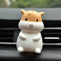 Wholesale korean cars for sale - Group buy Hot Brand Korean Baby Hamster Car Decoration Pendant Cute Fragrance Ornament Pendant Fragrance Deodorant