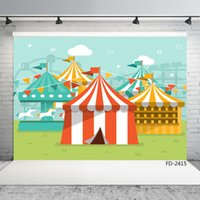 Wholesale spray tents resale online - amusement park whirligig tent vinyl cloth photography background for photo shoot X5ft children baby party photophone photo studio
