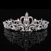 Sparkly Crystals Rhinestones Girls' Head Pieces Tiaras Crowns for Children Cheap In Stock Wedding Flower Girls Hair Accessories AL2020