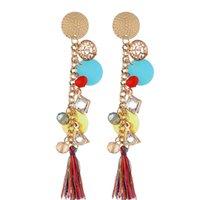 ingrosso ornamenti di cristalli-Fashion Love Designer Posimi Second Popular Ornaments Crystal Ear Pendant Nail 2019 Nappe Orecchini Charms Orecchini per donna