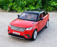 Wholesale off road vehicles resale online - 1 Scale Diecast Alloy Metal Luxury SUV Car Model For Range Rover Velar Collection Off road Vehicle Model Sound Light Toys Car