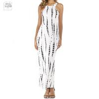 красное белое полосатое платье макси оптовых-Летнее платье Cut Out знаменитости белое длинное платье в полоску с принтом макси-платьев Summer Red Beach Party Платья Club J3207