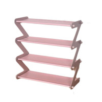 Wholesale plastic shoe holders resale online - Metal Bookcase Shoe Multi layer Storage Assembly Organizer Diy Bookcases Shelving Furniture Storage Holders Racks Shoes Multi Layer Simple