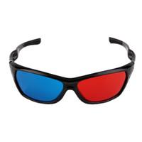 3d film çerçeveleri toptan satış-3D Gözlük Evrensel Beyaz Çerçeve Kırmızı Mavi Anaglyph 3D Gözlük Visoin Cam Boyutlu Anaglyph Film Oyunu DVD Video TV Için