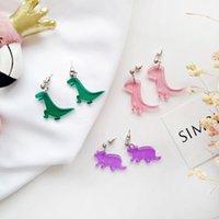 ingrosso orecchini del polsino animale-Simpatici orecchini di dinosauro acrilici squisiti svegli Orecchini punk Orecchino giapponese per gioielli di moda donna Bijoux all'ingrosso