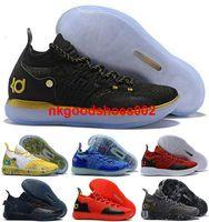 kd mor basketbol ayakkabıları toptan satış-Ayakkabı Sneakers Erkek boyutu bize Atletik kutusu ile 12 13 teyze inci yakınlaştırma kd 11 Kevin Durant, XI basketbol Erkekler Eğitmenler Mor eur 46 47 Stok x