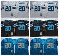 d2797fcba Detroit Lions 20 Barry Sanders Jersey Men Black Blue White Away Vintage  Sanders Football Jerseys American For Sport Fans Breathable