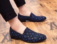 ingrosso nuove donne equilibrate scarpe-XXLLouis Vuitton Scarpe firmate Uomo Paillettes supre Designer Mocassini eleganti Scarpe uomo Stile britannico Bianco Scarpe uomo Casual Grandi misure