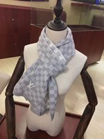 bufandas de lana para hombre al por mayor-Marca caliente del invierno para hombre de las mujeres de la moda bufandas de lana de mezcla bufanda de la mujer del hombre de la bufanda el 170 * 40cm 2 colores opcionales
