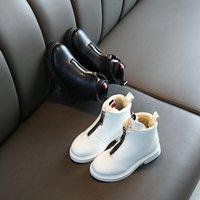 weiße schneestiefel für kinder groihandel-Winter Kinderschuhe für Kinderschuhe Mädchen Boots Jungen Schuhe Plüsch Warm Zip Fashion Outdoor Snow Schwarz Weiß Kleinkind