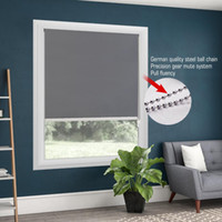 Wholesale upper roller resale online - 100 Blackout Metal Bead Rope Gray Roller Blinds Thermal Roller Shade Window Shade Customized Blinds