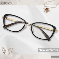 gafas de moda al por mayor-Las mujeres de forma rectangular gran vogue diseño rico acetato / metal moda gafas sin receta