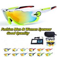 unisex gözlük toptan satış-2019 Polarize Marka Bisiklet Güneş Yarış Spor Bisiklet Gözlük Dağ Bisikleti Gözlük Değiştirilebilir 3 Lens Açık Bisiklet Gözlük