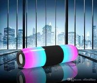 sons do telefone mp3 venda por atacado-Alto-falantes portáteis LED Bluetooth Sem Fio MP3 Música Áudio TF USB rádio FM Boombox Subwoofer estéreo Caixa de barra de som PC Phone Speaker