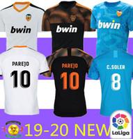 ingrosso camicia di valencia di valencia-Nuova maglia da calcio Valencia 2019 Camiseta equipacion del 2019 2020 bambini Valencia Migliore maglia da calcio di qualità 3A Parejo Batshuayi Gameiro
