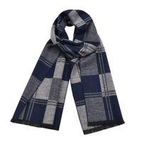otoño invierno bufandas chales al por mayor-2019 Mens Fashion Designer Cashmere Plaid Scarf Knitted Fall Winter Male Warm Shawl Oversized Scarves 180 * 30cm