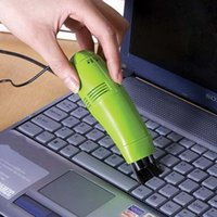 Wholesale keyboard brush free shipping for sale - Group buy FFFAS Cute Mini USB Vacuum Keyboard Cleaner Dust Collector Cleaning Vacuum Brush for PC Laptop Desktop Notebook
