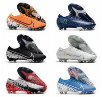 Wholesale shoes soccer for sale - Group buy 2019 top quality mens soccer shoes cr7 soccer cleats outdoor Ronaldo football boots Mercurial Vapors Elite Neymar FG new