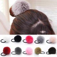 Finta Pelliccia Pom-Pom Hair Bobble elastico hairband elastico