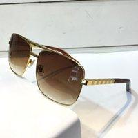 vintage sonnenbrille neues modell großhandel-New Fashion Classic Sonnenbrille Haltung Sonnenbrille Goldrahmen Quadrat Metallrahmen Vintage-Stil Outdoor-Design klassisches Modell 0259