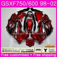 gsxf carenagens venda por atacado-Kit para SUZUKI KATANA GSX750F GSXF750 1998 Vinho tinto 1999 Cool 2000 2001 2002 Corpo 3HM.21 GSXF 750 600 GSX600F GSXF600 98 99 00 01 02 Carenagem