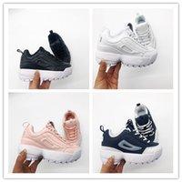 çocuklar beyaz spor ayakkabıları toptan satış-FILA Yüksek Kaliteli 2019 Bebek F ayakkabı Çocuklar koşu ayakkabı pembe Beyaz Tozlu Kaktüs F açık yürümeye başlayan atletik spor oğlan kız Çocuk sneakers