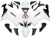 negro blanco 636 al por mayor-4Gifts libre por encargo del nuevo ABS Carrocería establece carenados kits de ajuste para Kawasaki Ninja ZX6R ZX636 ZX636 ZX6R 2007 2008 ZX 636 Pure White Negro Rojo