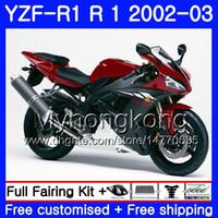 Wholesale matte black r1 fairings resale online - Bodys For YAMAHA YZF R YZF YZF YZFR1 Matte black red hot Bodywork HM YZF R1 YZF1000 YZF R1 Fairing Frame