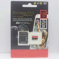 cartão 128 venda por atacado-1 pcs O último 128 GB 256 GB 64 GB 32 GB 16 GB cartão SD Micro TF cartão Com Adaptador Pacote de Varejo Genérico Bolha