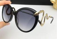 Wholesale cats eyes shaped sunglasses resale online - new fashion women designer sunglasses cat eye animal frame Snake shaped legs with diamonds top quality protection eyewear