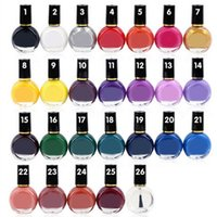 Wholesale french nail art images resale online - 26 Color ml Nail Art Stamp Stamping Transfer Polish Acrylic Gel Varnish French Tip Painting Printing Desgin Image Manicure Oil