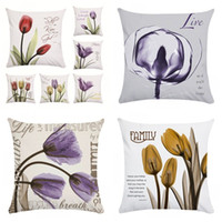 Wholesale love flower lights resale online - Pattern Printing Pillow Set Flower Pillowcase Household Love Bedroom Cushion Cover Square Super Soft Multiple Styles Colorful jw C1