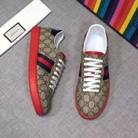 impresiones de la lona del tigre al por mayor-Nuevo mejor diseño de calidad zapatos hombre abeja tigre perla azul rojo rayas zapatos de lujo apenado lienzo moda as sneaker tamaño 35-45