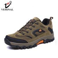 ingrosso comode scarpe da trekking-VESONAL 2019 Nuovo Autunno Inverno Sneakers Scarpe Uomo Casual escursione esterno che confortevole Mesh traspirante Calzatura uomo