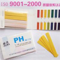 prueba de ph prueba de tira al por mayor-Alta calidad caliente Gama completa 1-14 Tiras de papel de prueba de tornasol 80 Tiras PH Indicador del probador de papel PH Partable Medidores Analizadores al por mayor