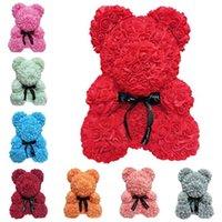 blumenartikel großhandel-Heiße Mode neue kreative Valentinstag Geschenk Blase Blume Rose Bär Weihnachtsgeschenk Neuheit Artikel T7I5032